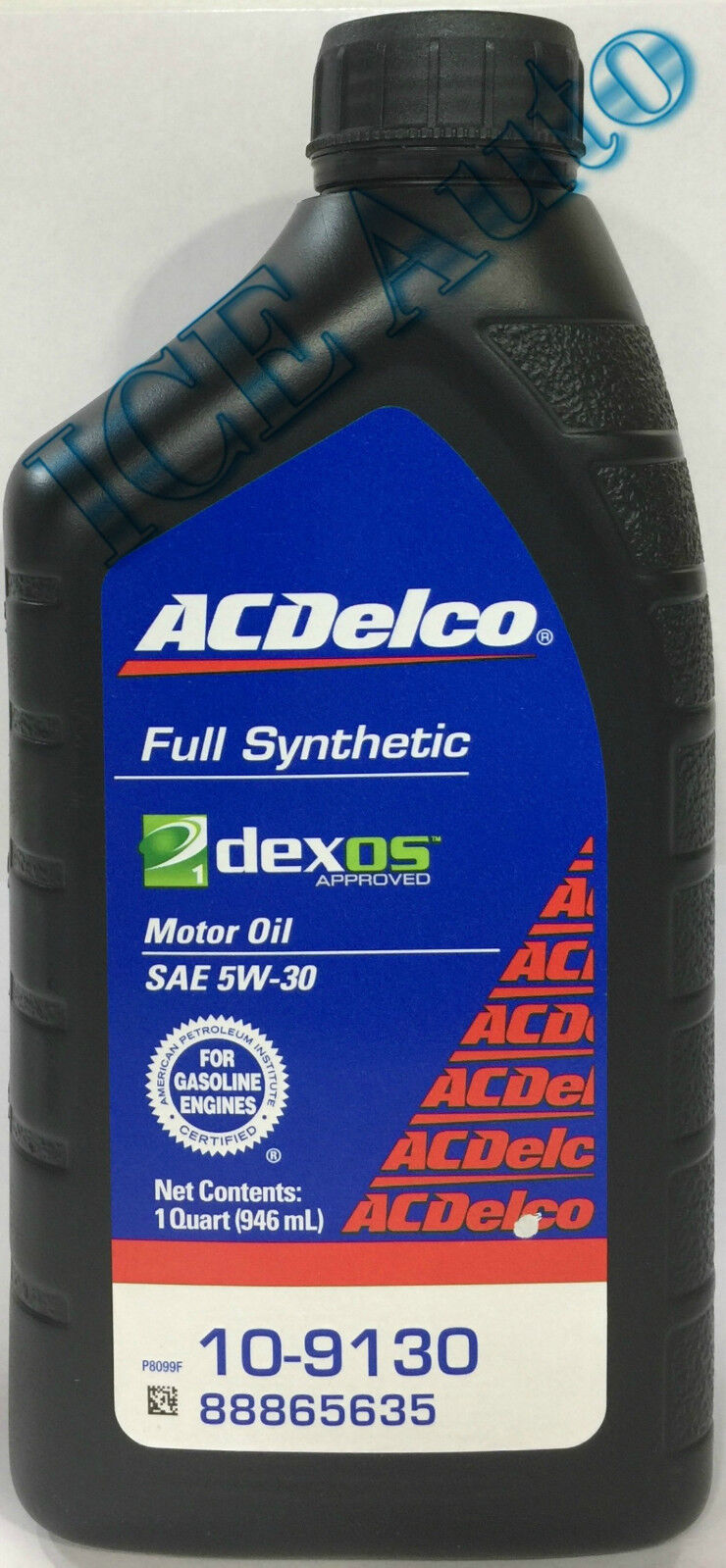 acdelco full synthetic 10 9130 sae 5w 30 dexos1 motor oil. Black Bedroom Furniture Sets. Home Design Ideas