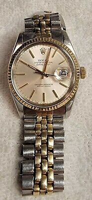 ROLEX Datejust Oyster Perpetual 36mm Gold Stainless 1977 Ref 16013 Vintage