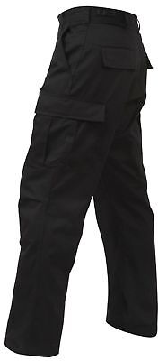 Regular Ripstop Bdu Pants - BLACK MENS ROTHCO 5923 BDU PANTS 100%COTTON RIP-STOP MENS CARGO SECURITY XS- 4X