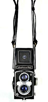 Hugostudio Genuine Leather TLR Cameras Shoulder Neck Strap - Rollei Yashica Etc.
