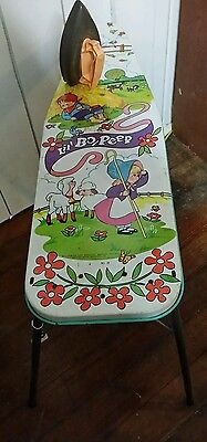 vTg Wolverine Lil' Bo Peep Litho Tin Girls Child Metal Toy Ironing Board & IRON