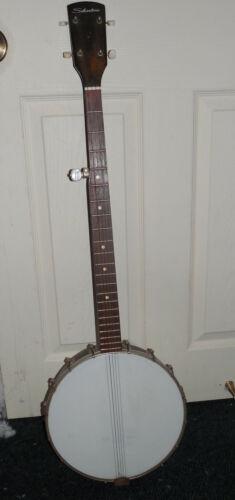 Vintage Silvertone Harmony Tenor Banjo