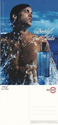 DAVIDOFF COOL WATER FRAGRANCE UNUSED ADVERTISING COLOUR POSTCARD (a)