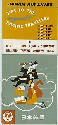 1960s Japan Air Lines Tips For Pacific Travelers JAL Travel What to Wear See Eat