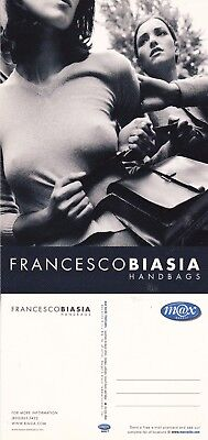 FRANCESCO BIASIA HANDBAGS UNUSED ADVERTISING COLOUR  POSTCARD (b)