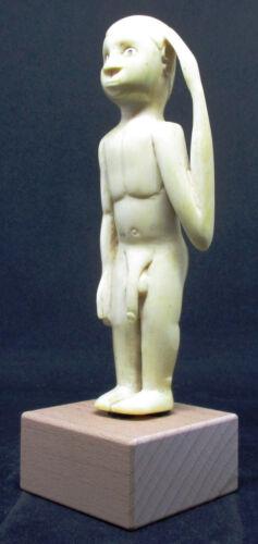 Antique Very Strange MANGBETU Naked Male Statuette - Belgian CONGO - early 1900