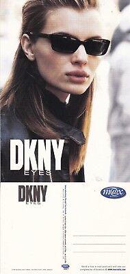 DKNY EYE WEAR UNUSED ADVERTISING COLOUR  POSTCARD
