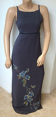 AMERICAN EAGLE Womens Size 4 Sleeveless Maxi Formal Party Prom Dress Floral