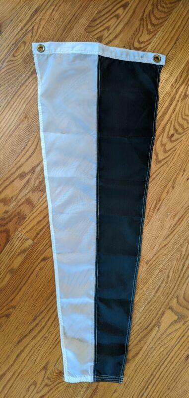 Nautical 6 International Code Signal Flag Grommets Nylon Black White