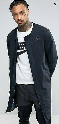 Nike Air Longline Bomber Jacket In Black 830631-010