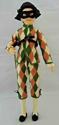 "R. John Wright  ""HARLEQUIN"" Doll with Cert of Authenticity in Original Box"