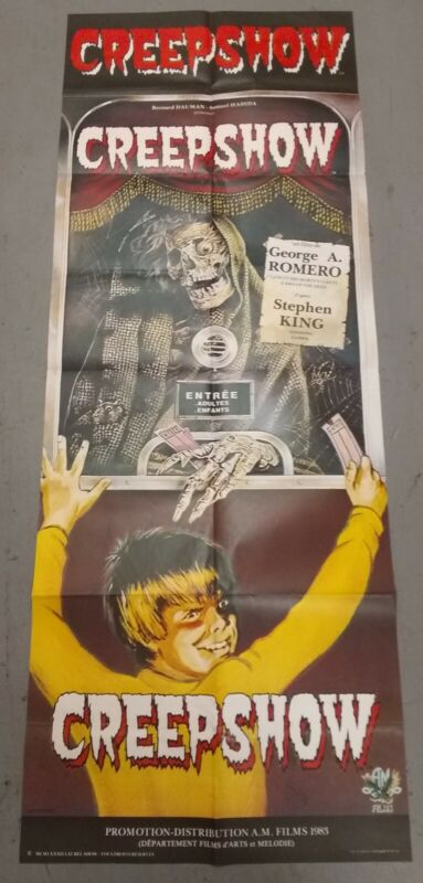 CREEPSHOW (1982) French DOOR PANEL Theatrical Poster Stephen King 23x60 (1983)