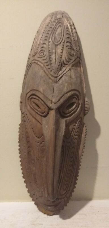 Old Wooden PNG Mask - NEW GUINEA - Collected 1970