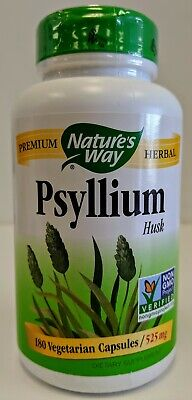 Nature's Way Psyllium Husk 525mg 180 Vegicaps. EXP 9/30/2019. New. Unopened. Natures Way Psyllium