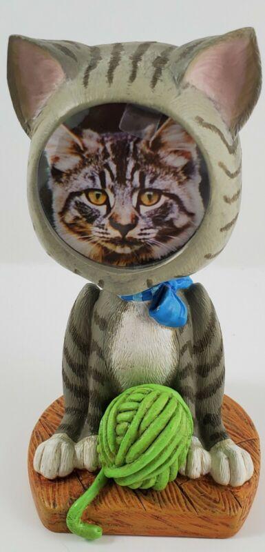 2001 Burnes of Boston Bobblehead Picture Frame Cat Picture Display Figurine