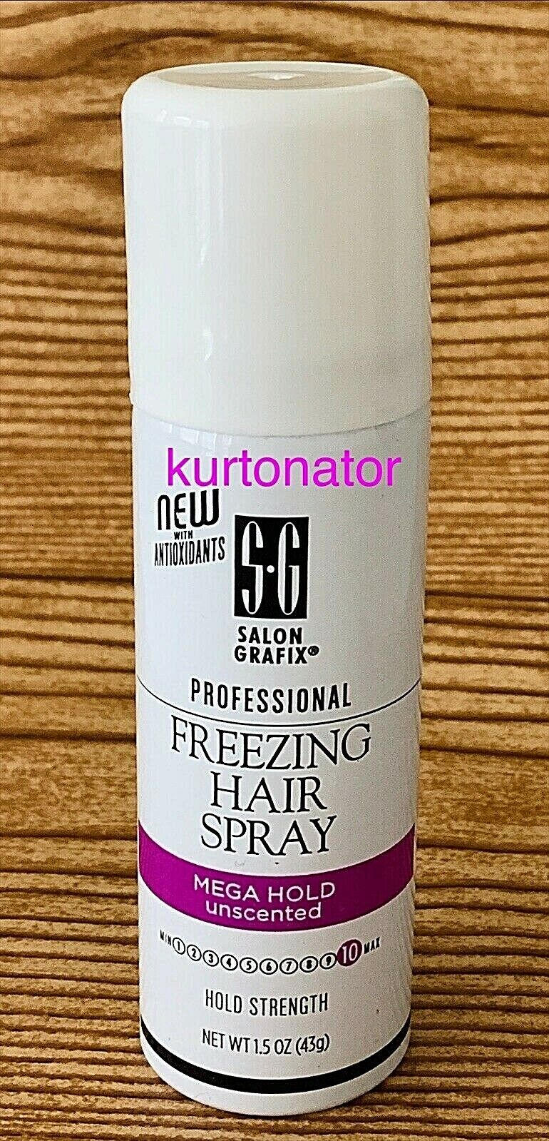 Lot of 12 Salon Grafix Freezing Hairspray MEGA HOLD UNSCENTE