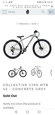 Collective C100 V2 Brand New in box Mountain bike Concrete Grey with receipt