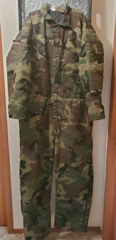 Big Ben by Wrangler Quilted Lined Camo Hunting Coveralls Size XXL 50/52 Reg