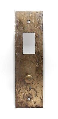 Vintage Brass One Button Bottom Floor Elevator Plate