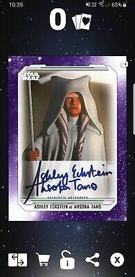 Star Wars Card Trader Skywalker Saga Purple Signature Ahsoka Tano