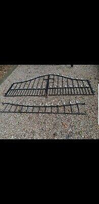 Wrought iron driveway gates And Panel