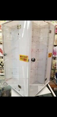 Pre-owned Acrylic Jewelry Display Case Rotating Countertop Display Case