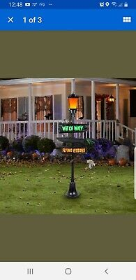 NEW - Holiday Living Halloween Gemmy LED Lighted Lamp Post 6'