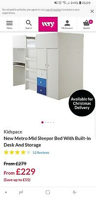 High sleeper cabin bed for sale  Kettering