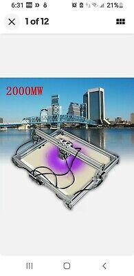 2000mw Assembled Cnc Laser Engraving Cutting Machine Engraver Desktop Cutter