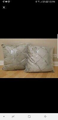 Lot of 2 Z Gallerie Pillow Shams Avignon EuroColor elcaliptus  for sale  Chicago