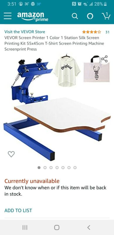 1 Color 1 Station Silk Screen Printing Machine Press Kit T-Shirt Equipment DIY