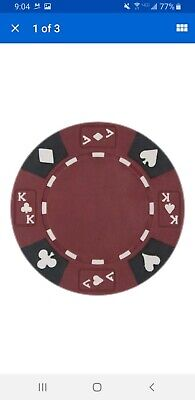 Ace King Poker Chips - 450 Red Ace King Suited 14g Clay Poker Chips ...BRAND NEW