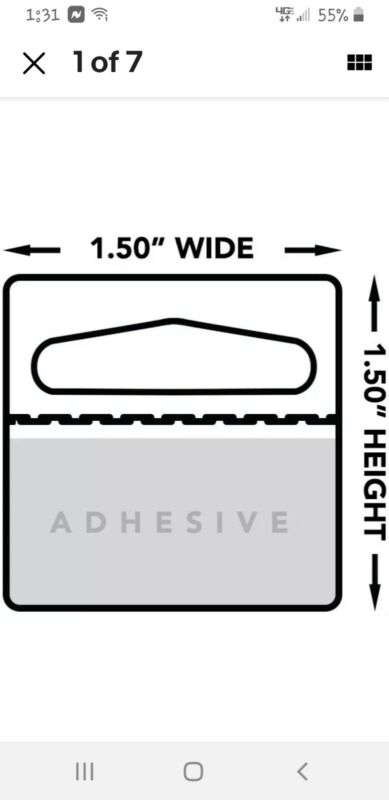 500 Hanging Display Tabs with Adhesive, Slot Hole Peel and Stick Hang Tabs, 500