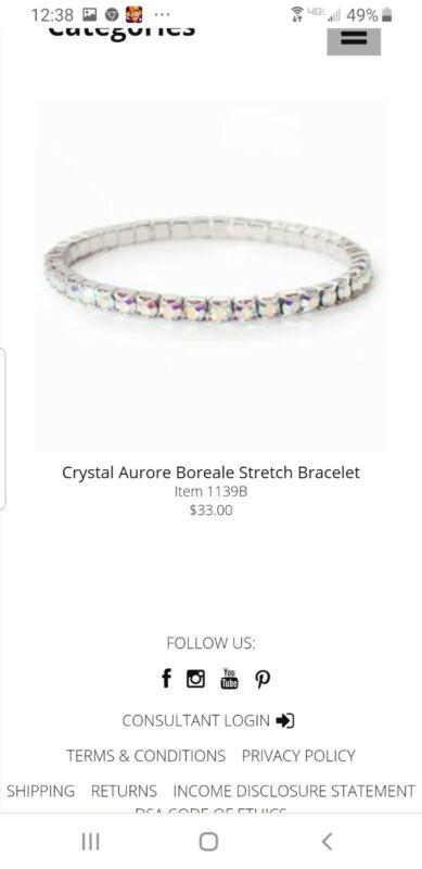 touchstone crystal bracelet crystal aurore boreale
