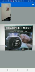 New Sharper Image Sound Machine Projection Alarm Clock with 6 Nature Sounds