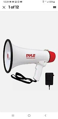 Pyle Megaphone Speaker Pa Bullhorn - With Built-in Siren Rechargeable Battery