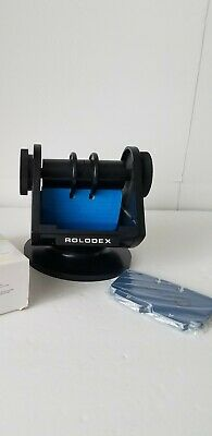 Vintage Rolodex Sw-24 Card System Swivel Faux Wood Trim File System