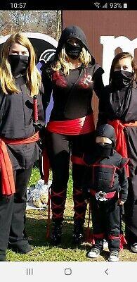 Adult Dragon Fighter Ninja Halloween Costume Size Medium 7 Piece.
