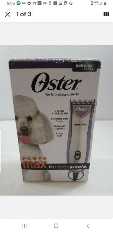 Oster Power Max Pro Care Grooming Clippers Purple New