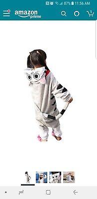 Childrens Cat Onesie (Kids Cat Costume 1Onesie One Piece Jumpsuit Pajamas Dress Up Cosplay Size)