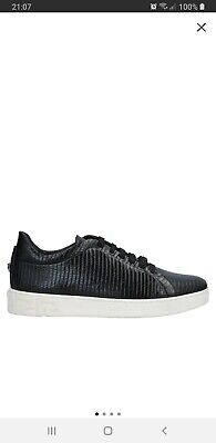 Versace Black Leather Sneakers - BRAND NEW SIZE 8 42