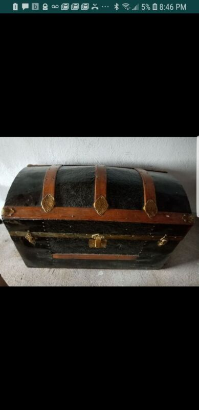 Antique Treasure Chest LARGE pirate really old purchased 30 years ago at antique