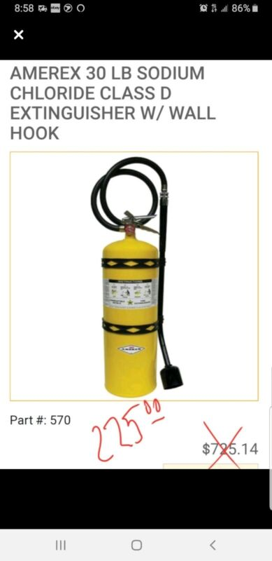 Class D Fire Extinguisher YELLOW  30 lb.