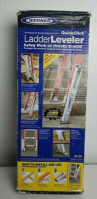 Werner Quickclick Extension Ladder Leveler Surface Leveling Tool Pk70-1