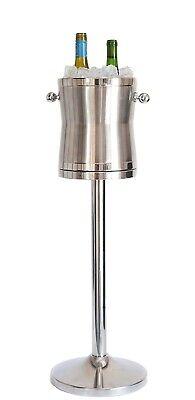 Champagne Wine Cooler Maroxx Luxury No Drip Stainless Steel Ice Bucket & Stand