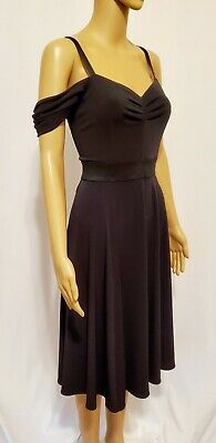 Eva Mendes New York And Company Black Fit And Flare Dress Size S