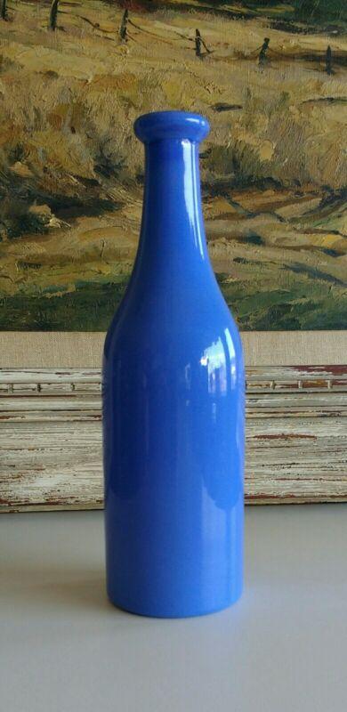 """Blue Barber Bottle 9 3/4"""""""