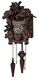 10-inch Mini Forester Bird Family Art Cuckoo Clock, Birdhouse Design -C00078