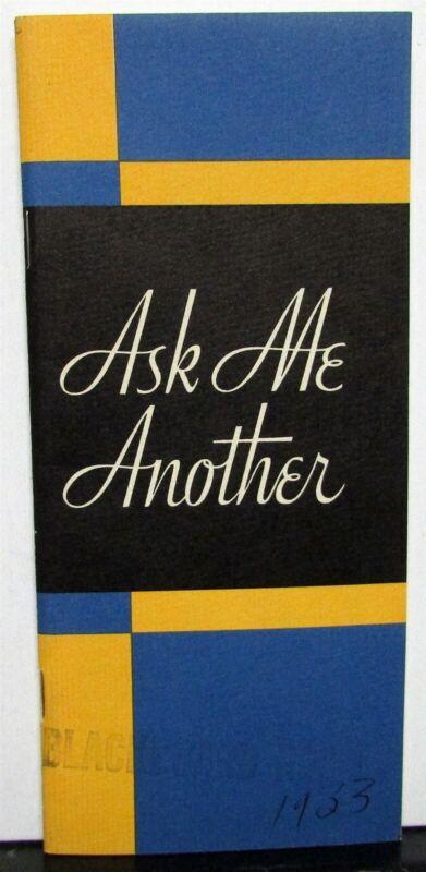 1933 Studebaker Speedway President Commander Six Sale Brochure Ask Me Another Bk