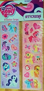 MY LITTLE PONY STICKER STRIPS 8 PACK **NEW SEALED SALE** free shipping